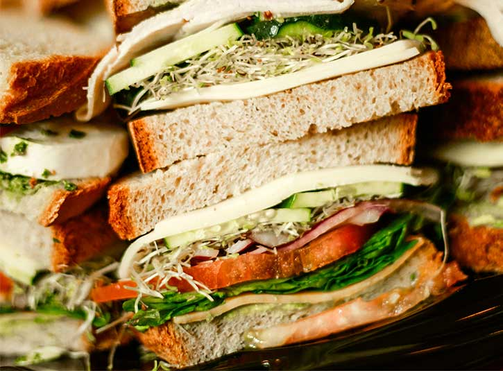 America's best lunch catering: Sandwiches